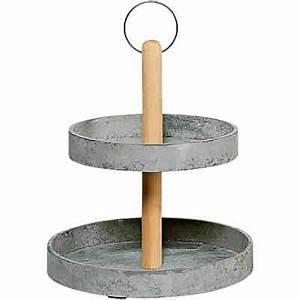 Etagere 2 Stöckig : deko etagere beton 2 st ckig h33cm grau yomonda ~ Sanjose-hotels-ca.com Haus und Dekorationen