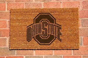 Ohio State Doormat by Ohio State Buckeyes Laser Engraved Welcome Mat 100