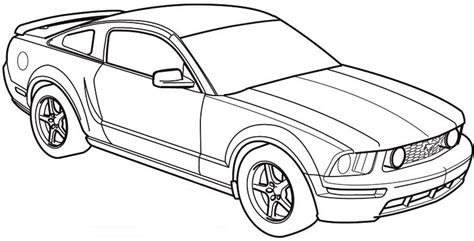 S197 Mustang Paint Template