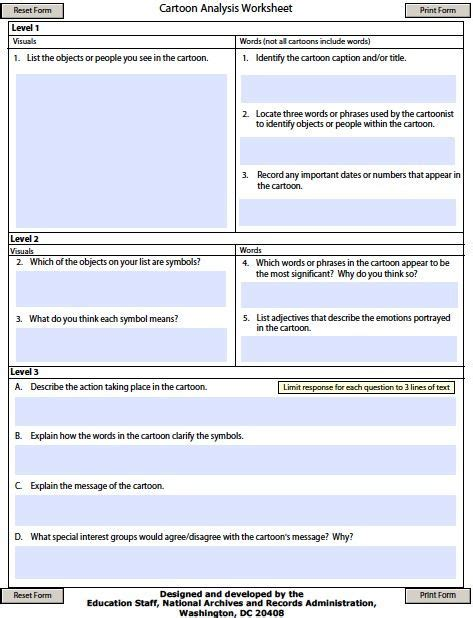 Cartoon Analysis Graphic Organizer  Middle School Informational Text  Great Ideas Pinterest
