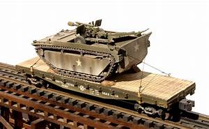 Us Army Lvt 105 Howitzer Load On 42 U2032 Flat Car Usax