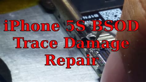 iphone  bsod blue screen long screw trace repair youtube