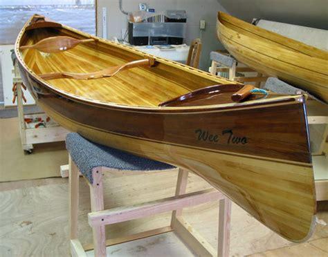 wee vera  wee  wood strip double paddle canoes