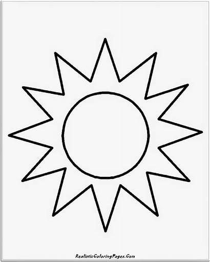 Sun Coloring Pages Simple Sunshine Moon Drawing