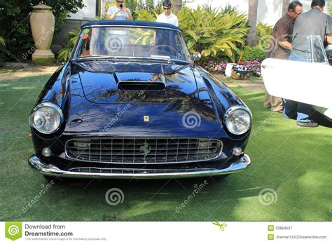 Classic Luxury Ferrari Sports Car Front Editorial