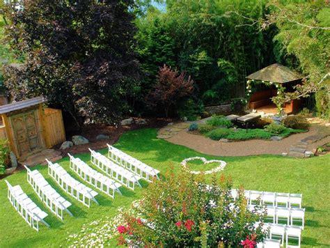 outdoor garden wedding at wysteria inn near asheville
