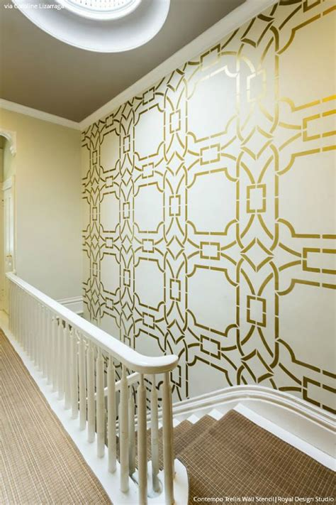 deco wall paint interior design trend art deco wallpaper wall stencils paint pattern