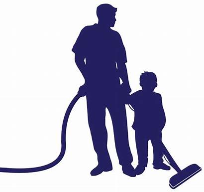 Son Father Cleaning Carpet Final Revolutionary Cleaner