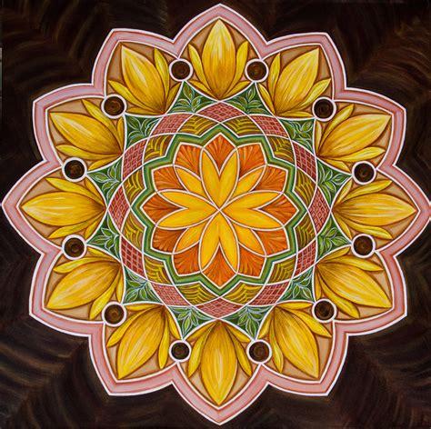 buy painting sunflower mandala artwork    indian