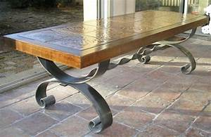 table basse bois et fer forge laval 53000 With table basse bois fer forge