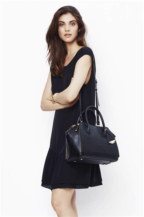 lyst rebecca minkoff mini perry satchel  black
