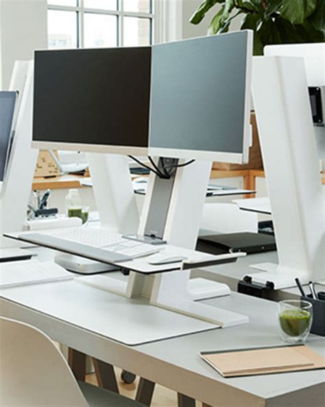 Humanscale Dual Monitor Standing Desk by Humanscale Quickstand Dual Stand Up Desk Converter