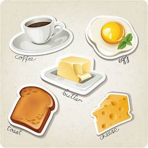 Different breakfast food vector icons Free vector in Adobe ...