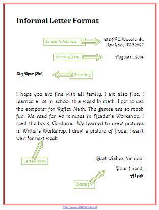 write  informal letter   write letter