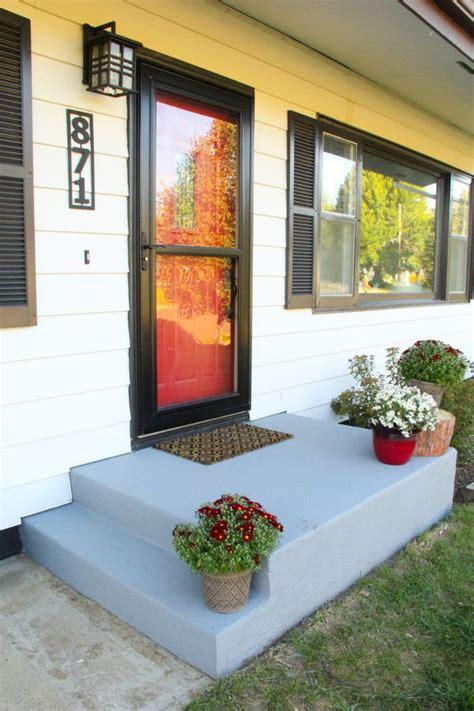 ideas  painted concrete porch  pinterest