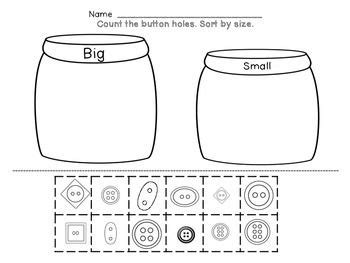 Kindergarten Math Sorting  By Color, By Size, By Shape, Button Sorting  Colors, Math And Rules For