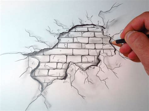 brick wall drawing how to draw a brick wall the original 3d