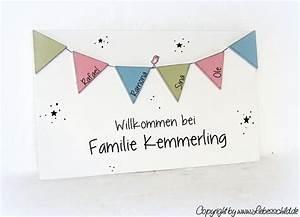 Wimpelkette Selber Basteln : 25 best ideas about namensschilder haust r on pinterest ~ Lizthompson.info Haus und Dekorationen