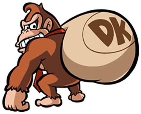 Donkey Kong stealing a sack of toys from the official ...