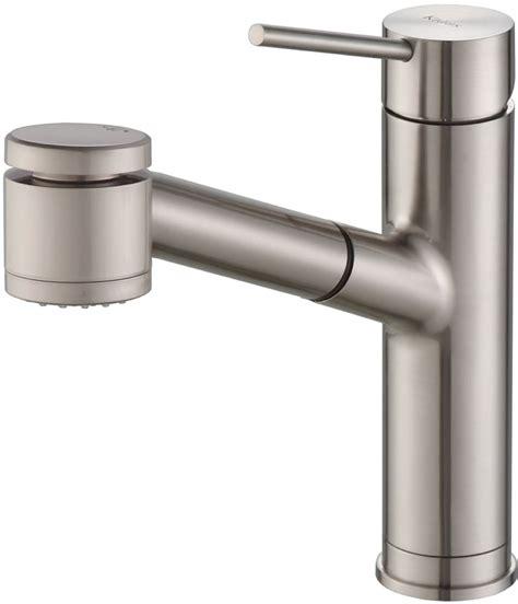reach kitchen faucet kraus kpf2610ss single lever pull out kitchen faucet with 8 1 8 inch spout reach 3 function