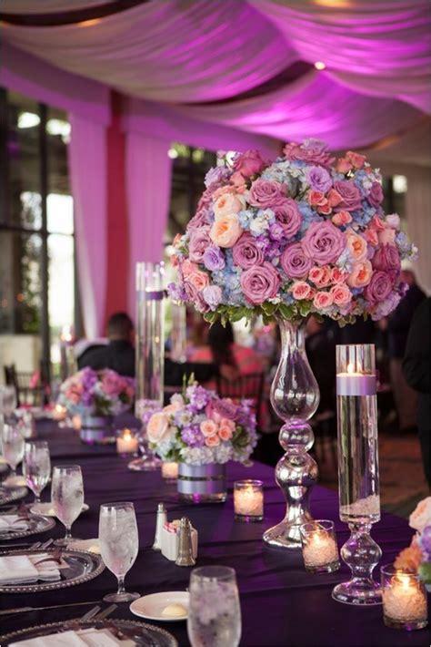 gorgeous lavender  coral wedding decor coral wedding