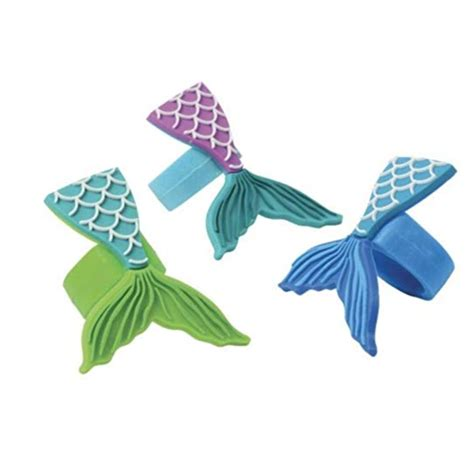 mermaid tail rubber rings ct pop party supply