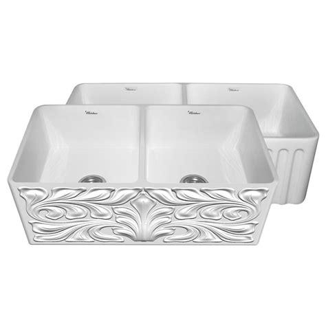 whitehaus kitchen sink whitehaus whflgo3318 white 33 quot white bowl 1068