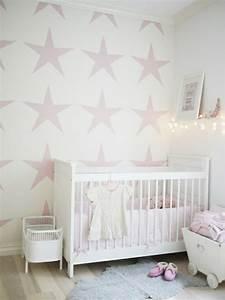 Ideen Für Kinderzimmer Wandgestaltung : malerschablone sterne f r wandgestaltung im babyzimmer ~ Lizthompson.info Haus und Dekorationen