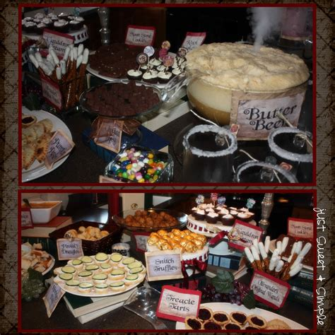 sweet  simple harry potter party
