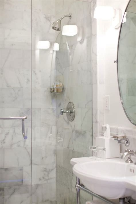 calcutta marble shower tiles transitional bathroom