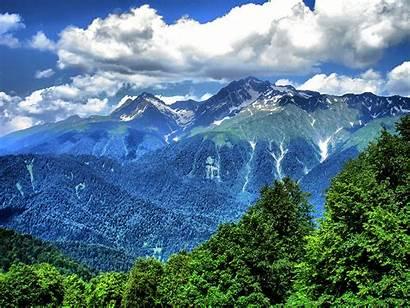 Mountains Sochi Caucasus Sea Russia Caves Church