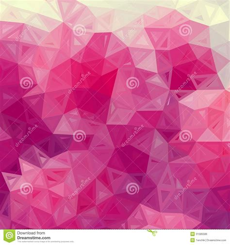 abstract triangles vintage vector pink background royalty