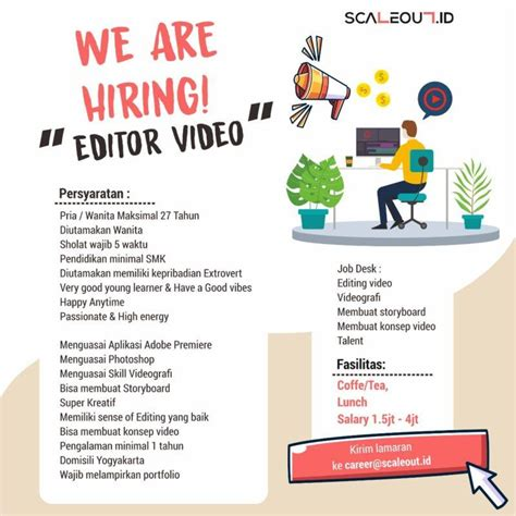 Lowongan kerja pt indofood sukses makmur tbk. Lowongan Kerja Editor Video di Scaleout.ID - LokerJogja.ID