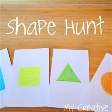 10 shape activities for toddlers it s hip to be square 971 | Shapehunt1mycreativefamily1 300x300