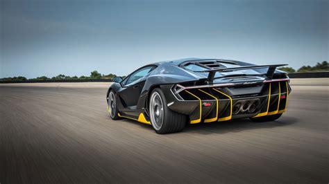 Wallpaper Lamborghini Centenario, 4k, Rear View