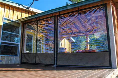 Clear Plastic Patio Walls - vinyl window coverings for screened in porch weather