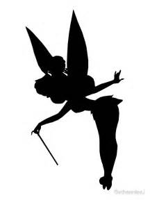 Free Tinkerbell Pumpkin Carving Patterns by Quot Black Tinker Silhouette Quot Canvas Prints By Bethannieej