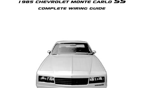 Chevrolet Monte Carlo Engine Compartment Wiring