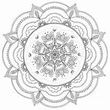 Coloring Mandala Printable Square Geometric Mustard Colouring Grown Adults Ups Maria Guardado Desde sketch template