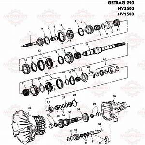 Parts Illustration Nv3500  Nv1500 Manual Transmission