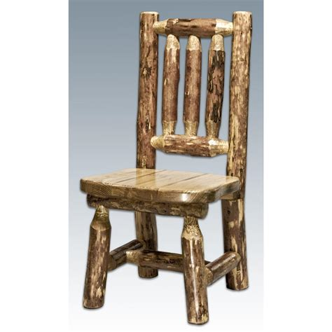 log table and chairs montana woodworks glacier country child 39 s log chair