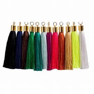 Black Silk Tassel Earrings Katie Kime