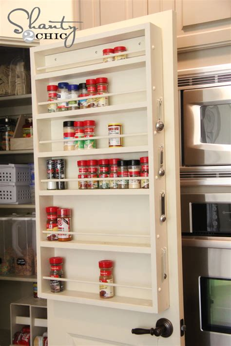 pantry ideas diy door spice rack shanty  chic