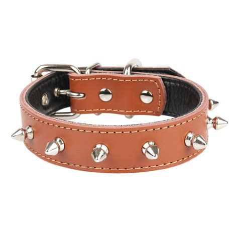 Cowhide Collars by Dogs Collars Real Cowhide Spiked Personalized Accessories
