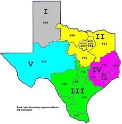 Texas UIL Region Map
