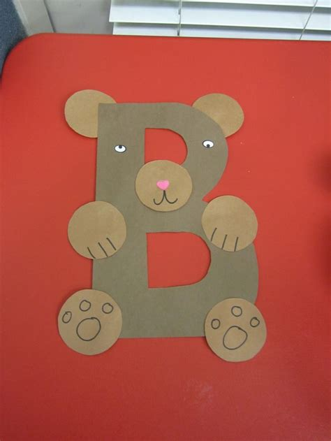 Letter B Crafts For Kindergarten  Preschool And Kindergarten