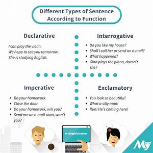 Different Types Of Sentence According To Function