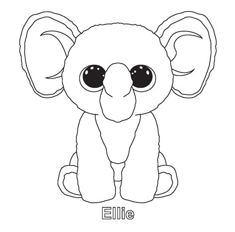 fiona beanie boo colouring pages color pages beanie