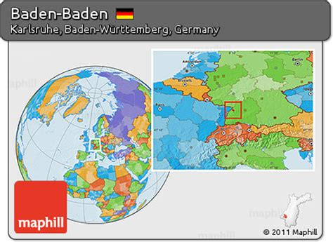 Find what to do today, this weekend, or in august. Free Political Location Map of Baden-Baden