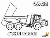 Coloring Pages Construction Truck Excavator Vehicle Deere John Farm Boys Tractors Side Adt Cat 460e Trucks Colouring Vehicles Yescoloring Coloringkidsboys sketch template